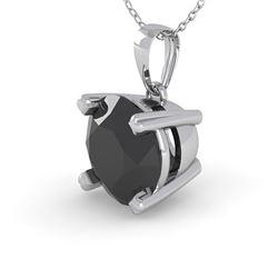 1 CTW Black Diamond Designer Necklace 14K White Gold - REF-40K4W - 38419