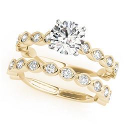 1.77 CTW Certified VS/SI Diamond Solitaire 2Pc Wedding Set 14K Yellow Gold - REF-228H2A - 31612