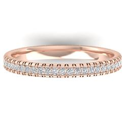 0.75 CTW Certified VS/SI Diamond Eternity Band Ring 14K Rose Gold - REF-53T3M - 30265