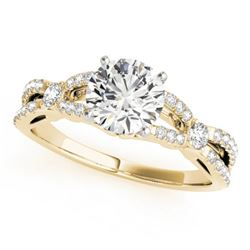 1.35 CTW Certified VS/SI Diamond Solitaire Ring 18K Yellow Gold - REF-376W2F - 27842
