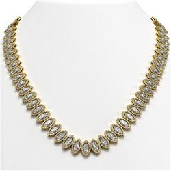 47.12 CTW Marquise Diamond Designer Necklace 18K Yellow Gold - REF-8739Y5K - 42832