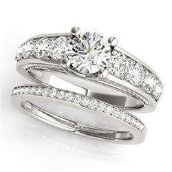 2.75 CTW Certified VS/SI Diamond 2Pc Set Solitaire Wedding 14K White Gold - REF-481K8W - 32096