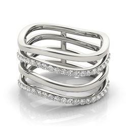 0.55 CTW Certified VS/SI Diamond Fashion Ring 18K White Gold - REF-100X8T - 28280