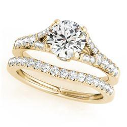 1.31 CTW Certified VS/SI Diamond Solitaire 2Pc Wedding Set 14K Yellow Gold - REF-169Y3K - 31747