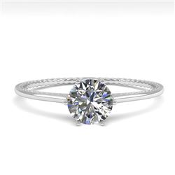 0.50 CTW VS/SI Diamond Solitaire Engagement Ring 18K White Gold - REF-95F5N - 35880