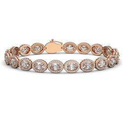 15.20 CTW Oval Diamond Designer Bracelet 18K Rose Gold - REF-2801X3T - 42708