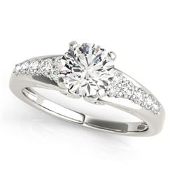0.9 CTW Certified VS/SI Diamond Solitaire Ring 18K White Gold - REF-138N2Y - 27603