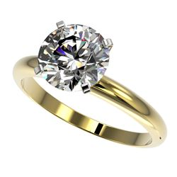 2.50 CTW Certified H-SI/I Quality Diamond Solitaire Engagement Ring 10K Yellow Gold - REF-870W2F - 3