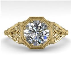 1.50 CTW VS/SI Diamond Solitaire Engagement Ring 18K Yellow Gold - REF-547F6N - 36052
