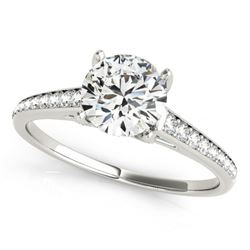 2 CTW Certified VS/SI Diamond Solitaire Ring 18K White Gold - REF-599N2Y - 27465