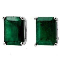 2.60 CTW Emerald Earrings 18K White Gold - REF-31K3W - 11913