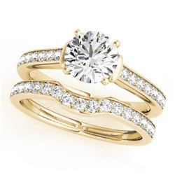 1.83 CTW Certified VS/SI Diamond Solitaire 2Pc Wedding Set 14K Yellow Gold - REF-400N9Y - 31642