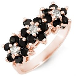 1.25 CTW VS Certified Black & White Diamond Ring 18K Rose Gold - REF-73F6N - 13768