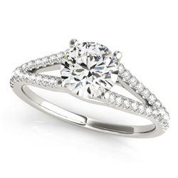 1 CTW Certified VS/SI Diamond Solitaire Ring 18K White Gold - REF-191K6W - 27951