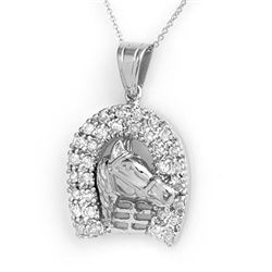 1.25 CTW Certified VS/SI Diamond Pendant 14K White Gold - REF-129W3F - 14427
