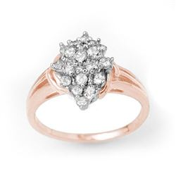 0.25 CTW Certified VS/SI Diamond Ring 18K Rose Gold - REF-41K6W - 14353