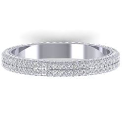 1.75 CTW Certified VS/SI Diamond Micro Eternity Ring 14K White Gold - REF-130W9F - 30267