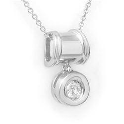 0.16 CTW Certified VS/SI Diamond Pendant 18K White Gold - REF-27F6N - 13576