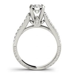 2.45 CTW Certified VS/SI Diamond Pave 2Pc Wedding Set 14K White Gold - REF-567K2W - 32067