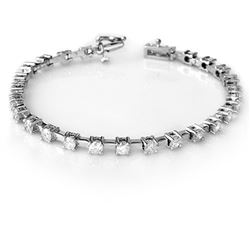 5.0 CTW Certified VS/SI Diamond Bracelet 10K White Gold - REF-467M3H - 10087