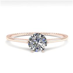 0.51 CTW VS/SI Diamond Solitaire Engagement Ring 18K Rose Gold - REF-96A8X - 35882