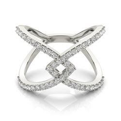 0.6 CTW Certified VS/SI Diamond Fashion Ring 18K White Gold - REF-86Y9K - 28286