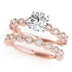 1.77 CTW Certified VS/SI Diamond Solitaire 2Pc Wedding Set 14K Rose Gold - REF-228N2Y - 31611