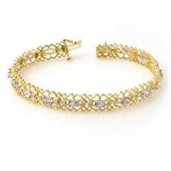 2.82 CTW Tanzanite & Diamond Bracelet 10K Yellow Gold - REF-69Y3K - 14272
