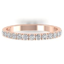 0.86 CTW Certified VS/SI Diamond Art Deco Eternity Band 14K Rose Gold - REF-52F8N - 30325