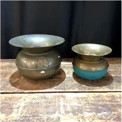 Pair of  Brass Spitoons