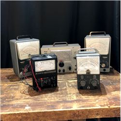 Lot of 5 Vintage Tube Testers