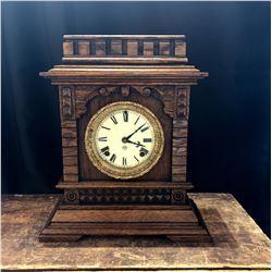 Antique Ansonia American Bracket Clock Syria Model ca. 1890-1900