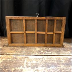 Antique Handmade Small Wall Display Shelf