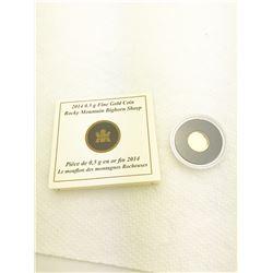2014 0.5 gram Fine Gold Coin Rocky Mountain Big Horn Sheep