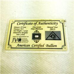 One Grain of 999 Platinum Bullion