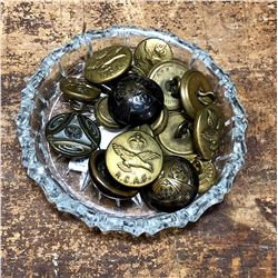 Lot of Vintage Brass Uniform Buttons. Mostly RCAF