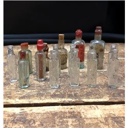 Lot of 16 Antique Chinese Opium and Medicine Bottles