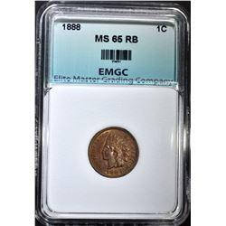 1888 INDIAN CENT, EMGC GEM BU RB