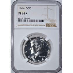 1964 KENNEDY HALF DOLLAR NGC PF67*