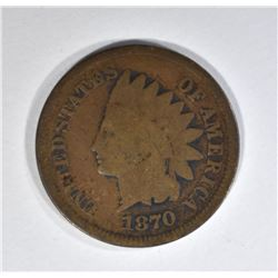 1870 INDIAN CENT, GOOD+ KEY DATE