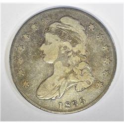 1835 CAPPED BUST HALF DOLLAR, VG/F