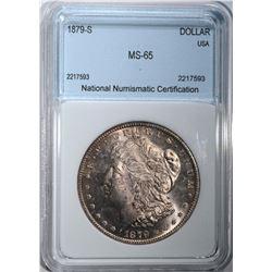 1879-S MORGAN HALF DOLLAR NNC GEM BU