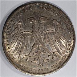 1848 SILVER GULDEN FRANKFURT GERMANY
