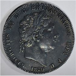 1820 SILVER CROWN GREAT BRITAIN