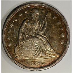 1843 SEATED LIBERTY DOLLAR CH.AU