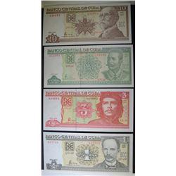 2003-5 1, 3, 5 & 10 PESOS CUBA  GEM CU