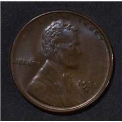 1931-S LINCOLN CENT  GEM BU