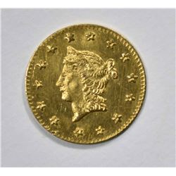 1854 CALIFORNIA GOLD LIBERTY HEAD HALF DOLLAR