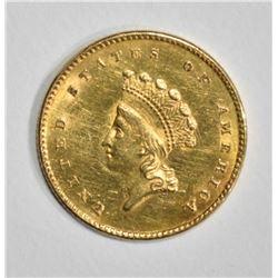 1854 GOLD $1 TYPE 2   CH BU