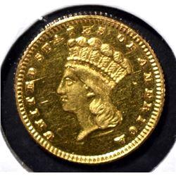 1889 GOLD $1  CH BU PL